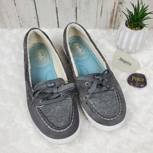 Keds Glimmer Ortholite Suede Sneakers Gray Size 9